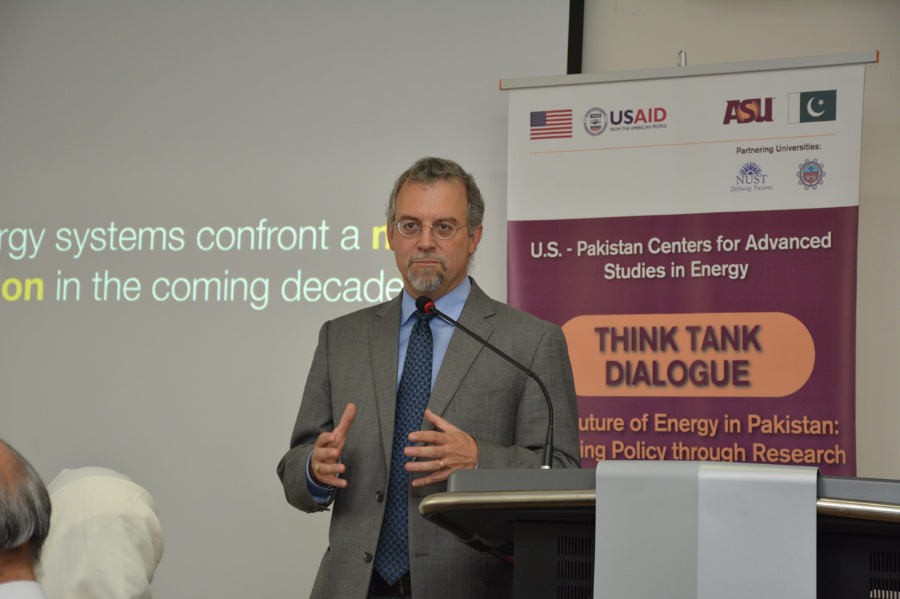 ASU professor Clark Miller led the first Think Tank meeting on July 9, 2018