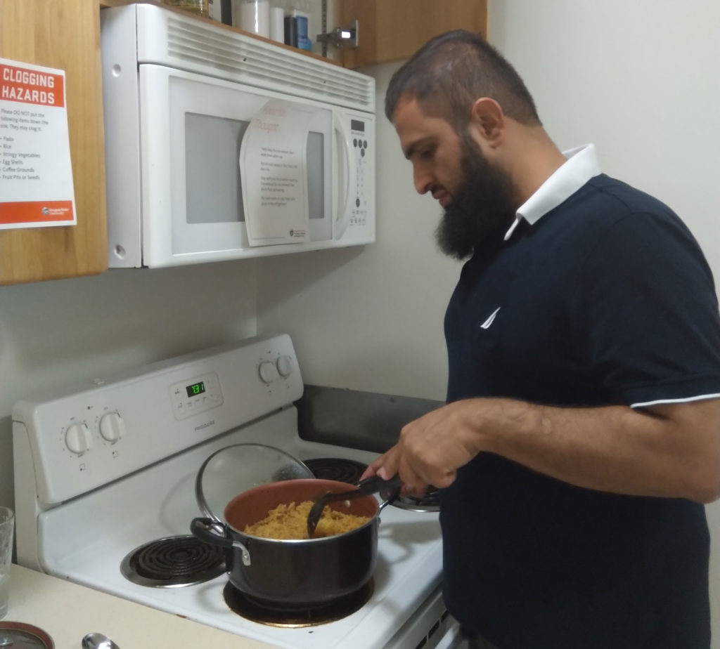 When he isn't cooking up ideas for a renewable future, Faisal Nawab is cooking spicy food.