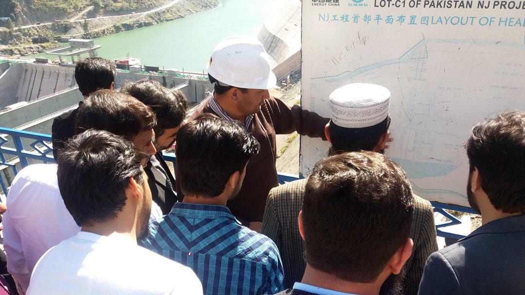 USPCASE scholars from UET Peshawar visit  Neelum-Jhelum Hydropower project