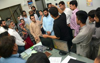 USPCAS-E scholars visit Kohat Textile Mill