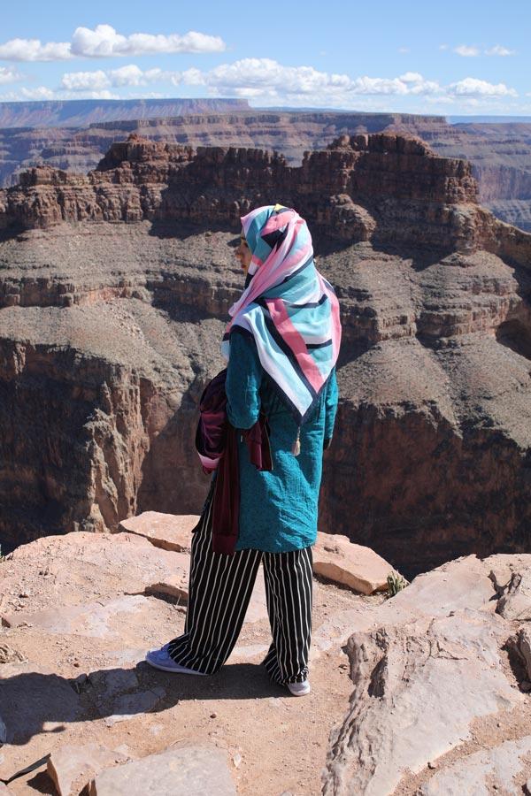 Samia Subhan Qureshi at the Grand Canyon